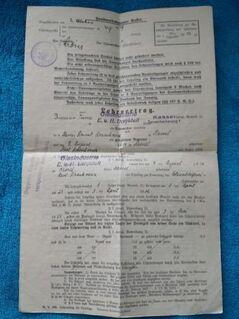 Alter Lehrvertrag von 1929 Rarität - Kassel