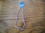 Nopper-Halskette mit Anhänger,Silber,Nickelfrei,ca. 19 cm zusammen - Linnich