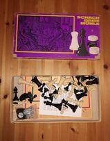 CHESS SET  GAME OF DRAUGHTS  NINE MEN`S MORRIS DDR Spika Vintage Schach Dame Mühle