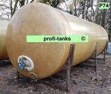 P74 gebrauchter 18.000 L Polyestertank GFK-Tank Wassertank Regenauffangtank Zisterne Lagertank Flüssigfuttertank Molketank Melassetank Rapsöltank Gülletank