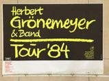 Plakat Herbert Grönemeyer, Bochum 84, Original, 86 x 60 cm
