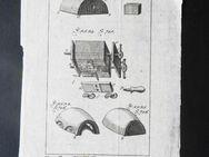 Kupferstich, detaillierte technische Darstellung. Encyclopedie oeconomique, um 1770 - Königsbach-Stein