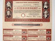 Historisches Wertpapier. I.G.Farbenindustrie, Liquidations-Anteilschein, 100 Reichsmark - Königsbach-Stein