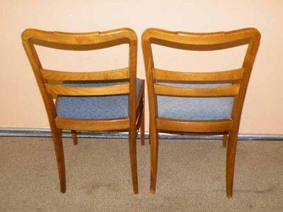 Zwei alte Stühle / Küchenstühle aus den 60er Jahren / gepolsterte Holzstühle - Zeuthen