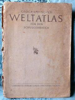 Geographischer Weltatlas für den Schulgebrauch von 1949 - Niederfischbach