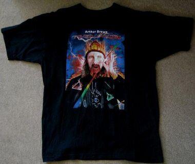 Arthur Brown  Fan-T-Shirt (God Of Hellfire) Größe M - Niddatal Zentrum