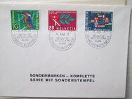 Helvetia Schweizer Mustermesse 1966 3 Marken mit Sonderstempel - Bad Neuenahr-Ahrweiler Zentrum