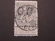Belgien Leopold II.,50c.,gelocht,1897-15,  Mi:BE 68,Lot 430