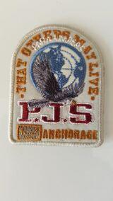 orig weiss Parajumpers PJS Patch Aufnäher Mantel Jacke Long Klett Logo Emblem