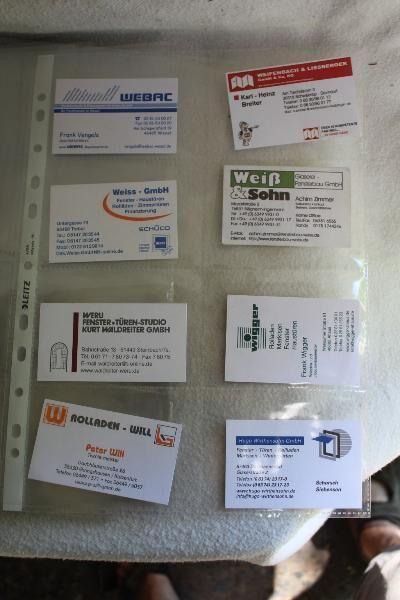 60 Stück Leitz Visitenkartenhülle Universallochung A4