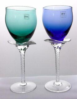 2 IVV-Gläser blau + grün - Eckernförde