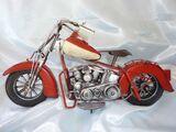 Motorrad Modell im Antiklook NEU & OVP / Standmodell aus Blech - Nostalgie