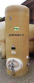 P66 gebrauchter 1.000 L Polyestertank GFK-Lagerbehälter Regenwassertank Flüssigfuttertank Molketank Melassetank Rapsöltank Kartoffeldampfschalen Gülletank Sickersaft