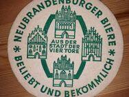 Neubrandenburger Biere AUS DER STADT DER VIER TORE Bierdeckel BD Bierfilz - Nürnberg