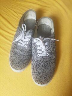Damen-Sneaker Gr. 40 grau gemustert - Dortmund Brechten