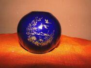 KAISER Porzellan Kugelvase Echt Scharffeuer Kobalt / Vase Goldmalerei Schwäne - Zeuthen