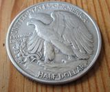 1/2 Dollar Half Dollar 1946 USA Walking Liberty,Lot 45