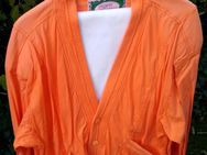 Leichte Stoffjacke (Cardigan-Style), orange XL - Kassel Nord-Holland