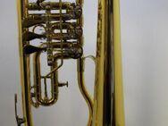 B & S Konzert - Flügelhorn. Goldlack - Einzelanfertigung. mit Tonausgleichstrigger, Neuware / OVP