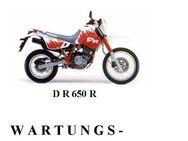 SUZUKI DR 650 R + S Wartungsanleitung (W. A.) - Bochum