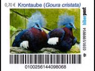 """Biberpost: """"Vögel: Krontaube"""", Satz, postfrisch - Brandenburg (Havel)"""
