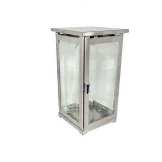 Edelstahl Grablaterne zum stellen, Facettenglas, Laterne für Herbst - Uslar Zentrum