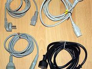 4x Kaltgeräte Kabel 3-polig Netzkabel f. PC-Monitor-Notebook usw - Nürnberg