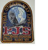 blau Parajumpers PJS Patch Aufnäher Mantel Jacke Long Klett Logo Emblem