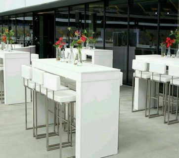 Stehtischbrücke weiß 165×55×110 Messetisch 6 Personen günstig online kaufen NEU - München Altstadt