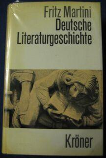 """""""Deutsche Literaturgeschichte"""" von Fritz Martini, 709 Seiten, 16. Auflage, Alfred Kröner Verlag Stuttgart, stammt aus 1972, ISBN: 3520196166, zum Schutz beim Gebrauch schon eingebunden, sehr guter Zustand, 7,- € - Unterleinleiter"""
