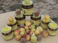 Weinbergpfirsich 225g Fruchtaufstrich mit 75% Fruchtanteil, einheimische Früchte - Bad Belzig