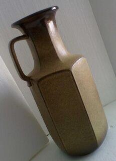 Vase, Boden-Standmodell, neu, sand-beige - Simbach (Inn) Zentrum