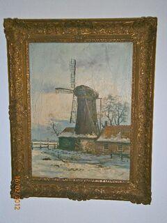 """""""Die Mühle"""" Ölgemälde von W.L.Rangé - Mülheim (Ruhr)"""