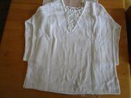 Pullover mit Rückenschnürung (Gr.38) 3/4 Arm ( Weiß mit Muster) - Weichs