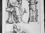 Kupferstich von Antonio Baratti. Darstellung von drei römischen Gestalten, um 1763 - Königsbach-Stein