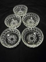 Walther Glas 5 Schalen 14 cm mit Stern Dessertschalen Schälchen zus. 9,-