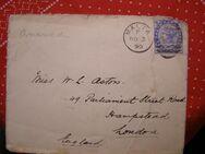 Malta Briefumschlag-2 1/2 Penny,1890,  Mi:MT 7a,Lot 468