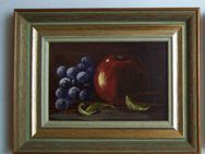 Annemarie Vossler      2 Ölbilder  *Stillleben mit Früchten* - Wangen (Allgäu)