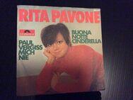 RITA PAVONE  PAUL VERGISS MICH NIE   BUONA NOTTE CINDERELLA   Single Schallplatte - Gladbeck