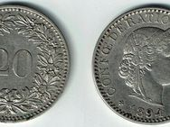 20 Rappen 1894,Schweiz Lot 217