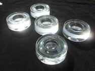 5 Glas Eierbecher mit Ablage zus. 4,- Vintage Deko - Flensburg