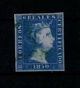 Spanien 6 Real Isabella II.,1850,Mi:ES 4 ,Lot 1268