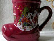 Kleiner Weihnachtsstiefel aus Porzellan- für viele Geschenkideen - Niederfischbach
