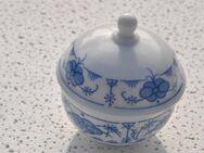Zuckerdose mit Deckel Kahla / Kaffeegeschirr Deckeldose in Blau Weiß - Zeuthen