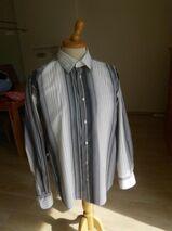 Tom Tailor Hemd Gr. XL Langarm Freizeithemd mit Streifen reine Baumwolle 5,-