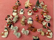 28 Teile Weihnachtsschmuck zum aufstellen / dekorieren - Keramik und Porzellan - Groß Gerau