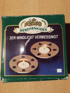 """2 x Stück Teelichthalter Messing mit Weihnachtsmotiv """" Neu """" - Verden (Aller) Zentrum"""