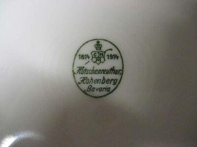 Hutschenreuther Hohenberg Porzellan Kuchenteller / Teller - Durchmesser 19 cm - Zeuthen