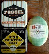 3 dekorative Schmuckdosen von Fossil