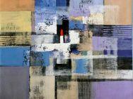 Großes neues BALI-Gemälde (110x110cm), Vielfarbige Komposition mit rotem Viereck!!!! - Berlin